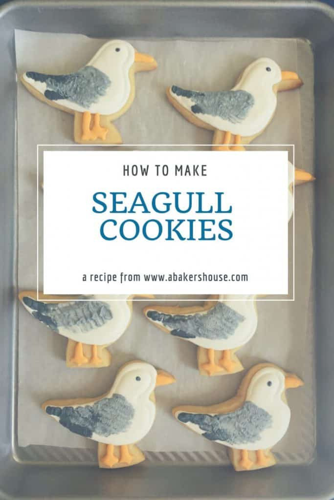 Decorated seagull cookies