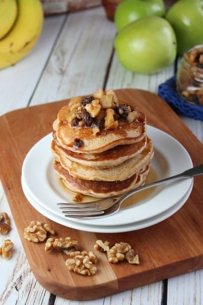 banana walnut pancakes 1