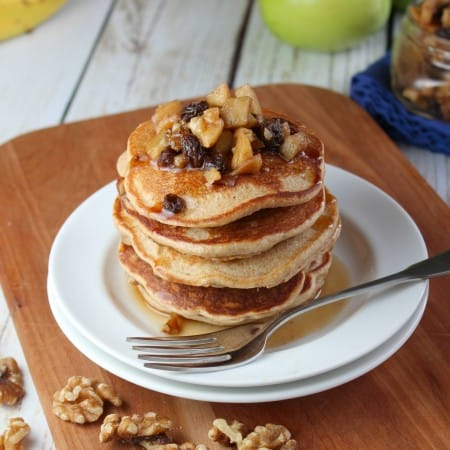 Whole Wheat Banana Walnut Pancakes
