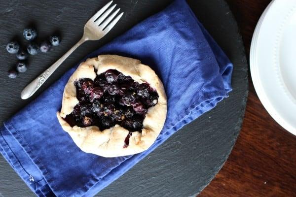 blueberry galette overhead