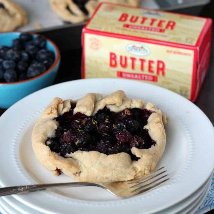 Gluten Free Blueberry Galette