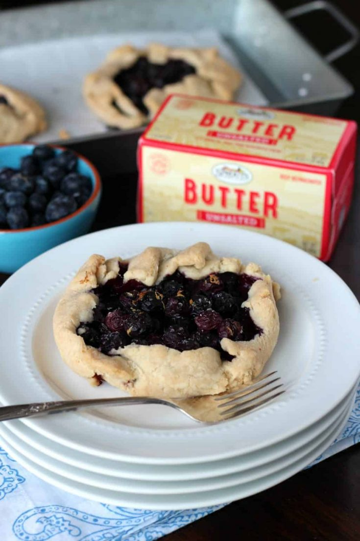 Gluten Free Blueberry Galette is a dessert made in partnershipSprouts Farmers Market. It pays homage to Bastille Day, the July 14th French holiday. #galette #glutenfree #glutenfree #glutenfreedessert #blueberydessert #ad #sprouts #abakershouse