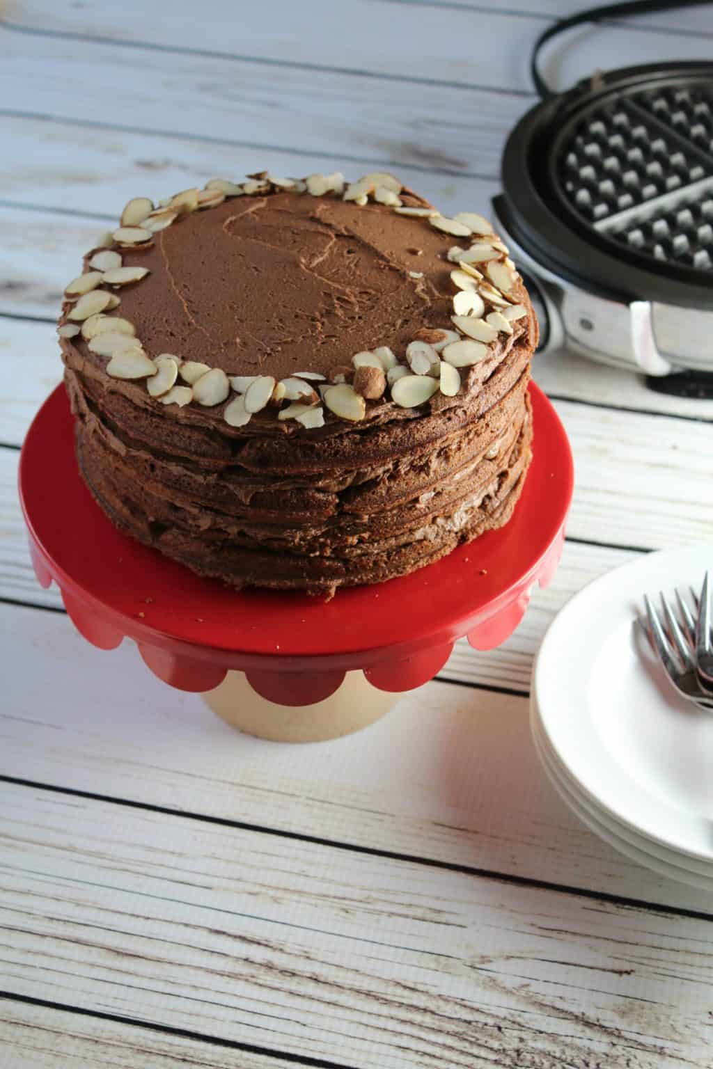 Gluten Free Double Chocolate Almond Layer Cake