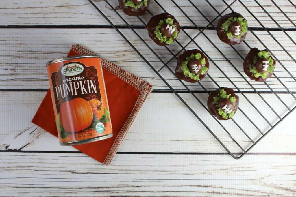 Football Pumpkin Brownie Bites