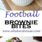 football brownie bites