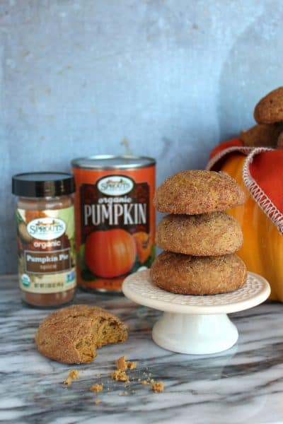 pumpkin snickerdoodles from Sprouts