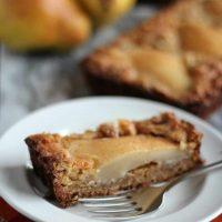 Gluten Free Pear and Walnut Tart