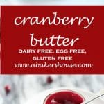 Cranberry Butter in small mason jar