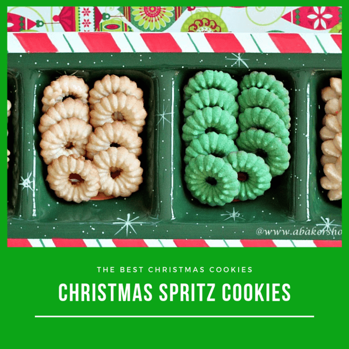 Spritz cookies make a lovely holiday cookie display