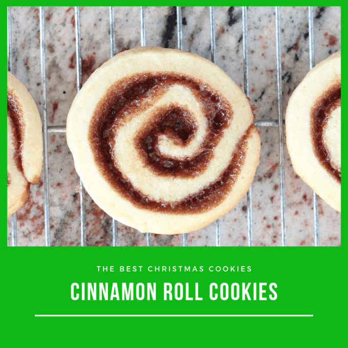 Square photo of cinnamon roll cookie