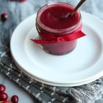 Cranberry butter spread made with Instant Pot