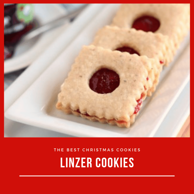 Linzer cookies with cherry preserves make a beautiful Christmas cookie