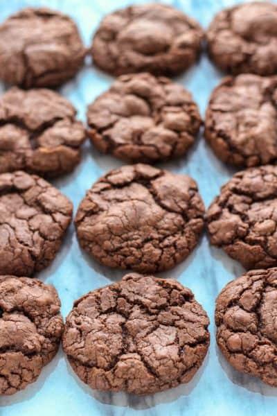 Brownie cookies on a marble board