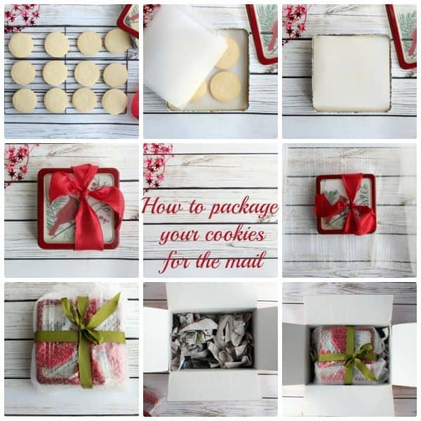 Photos showing How to package cookies for the mail