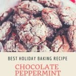 Holiday Chocolate Peppermint Crinkle Cookies