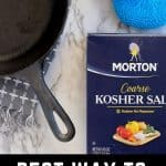 learn how to clean cast iron with salt