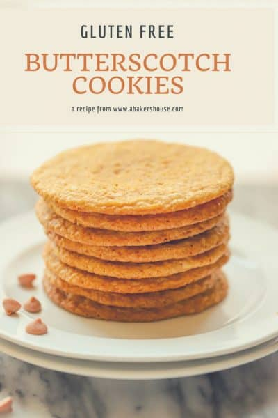 Gluten Free Butterscotch Cookies | Classic butterscotch flavors in this simple cookie from www.abakershouse.com