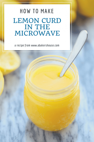 How to make lemon curd in the microwave