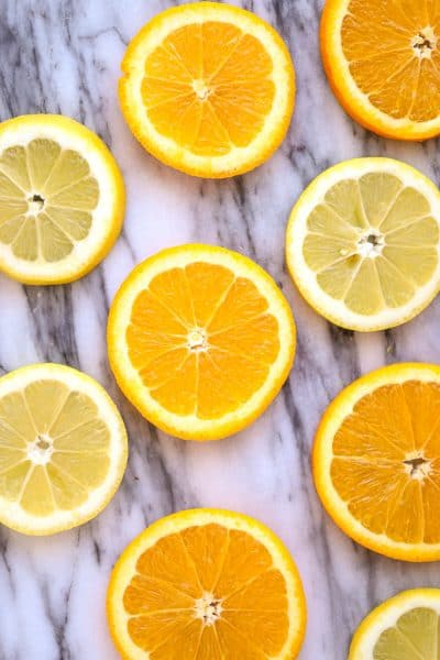 slices or oranges and lemons