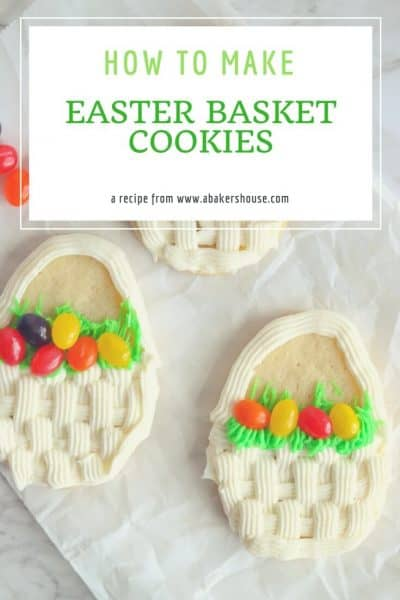 Cute Easter Basket Decorated Cookies