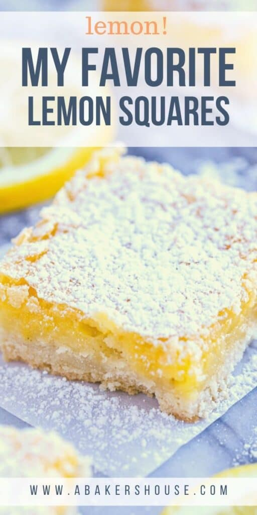 Lemon bar on a marble board