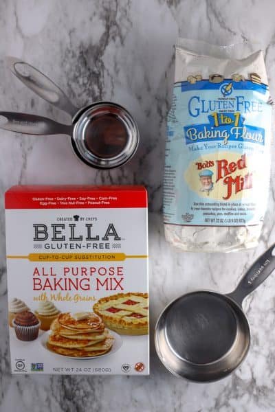 Two brands of Gluten Free Baking Flour Substitutions