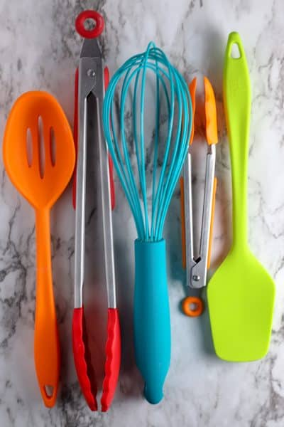 Gluten Free Baking Utensils in bright colors
