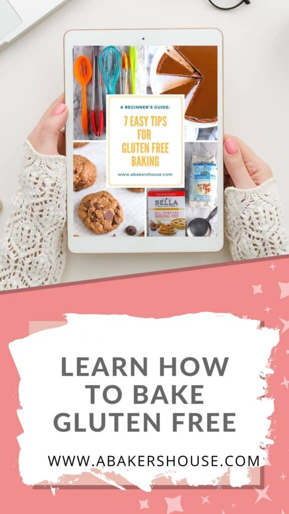 Pinterest image of gluten free tips on ipad with graphics