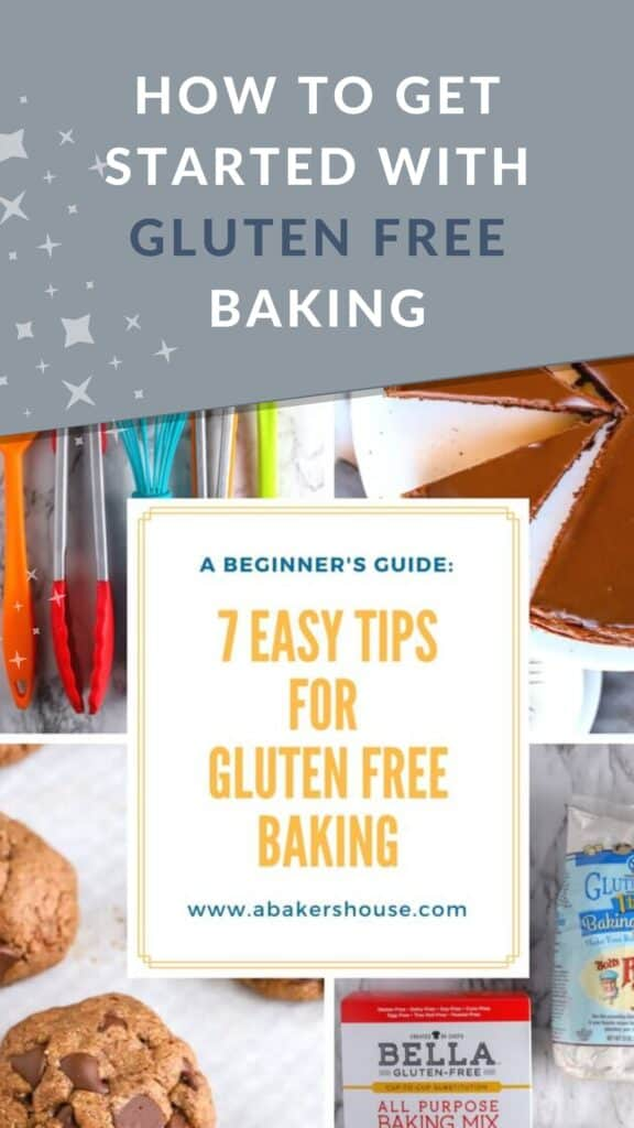 Pinterest image how to start GF baking