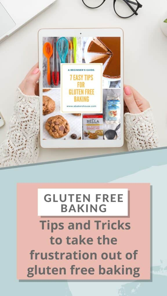 Gluten free baking tips on an ipad screen