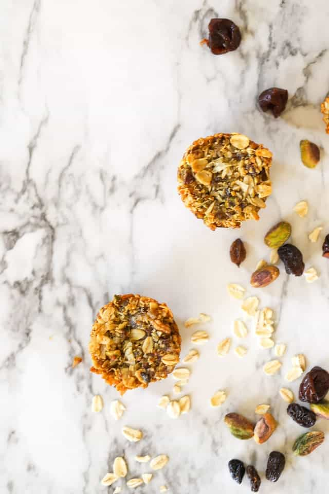 aussie bite snack on marble board with raisin and pistachios