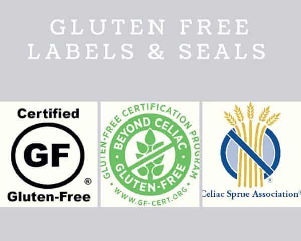 gluten free labels for gluten free baking