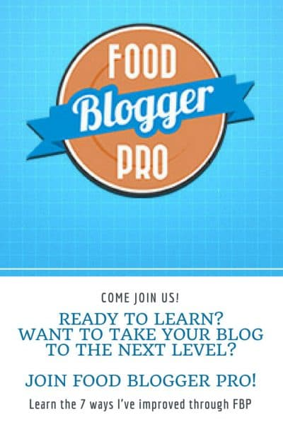 Pinterest image for information about Food Blogger Pro membership site