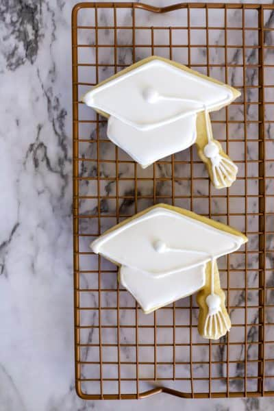 Graduation cookies step 6 decorating