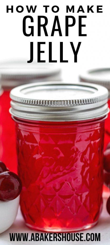 single jar of vibrant grape jelly