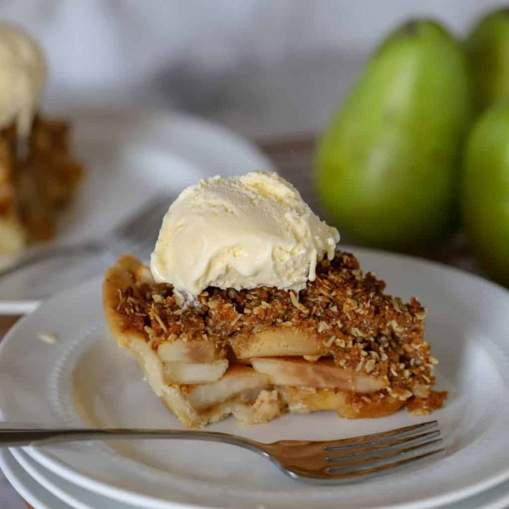Slice of Gluten Free Pear Pie