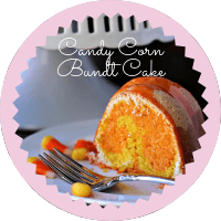 Photo to link to candy corn bundt cake
