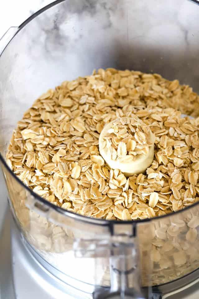 Gluten free oats in the food processor