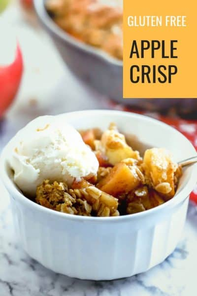 Pin photo for gluten free easy apple crisp
