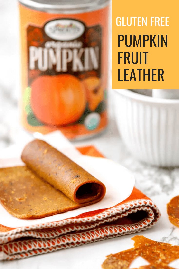 Pumpkin Fruit Leather is a healthy homemade treat that your kids will enjoy. #ad #sponsored Wholesome ingredients from #Sprouts combine to create this seasonal treat. #abakershouse #pumpkin #fruitleather #lovesprouts #sproutsbrand #glutenfree #ad #sponsoredpost