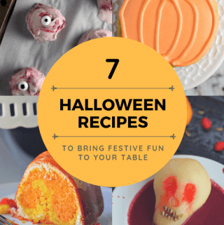 Pinterest Photo for 7 Halloween Recipes from A Baker's House