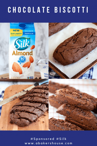 Pin for Vegan Chocolate Biscotti step by step