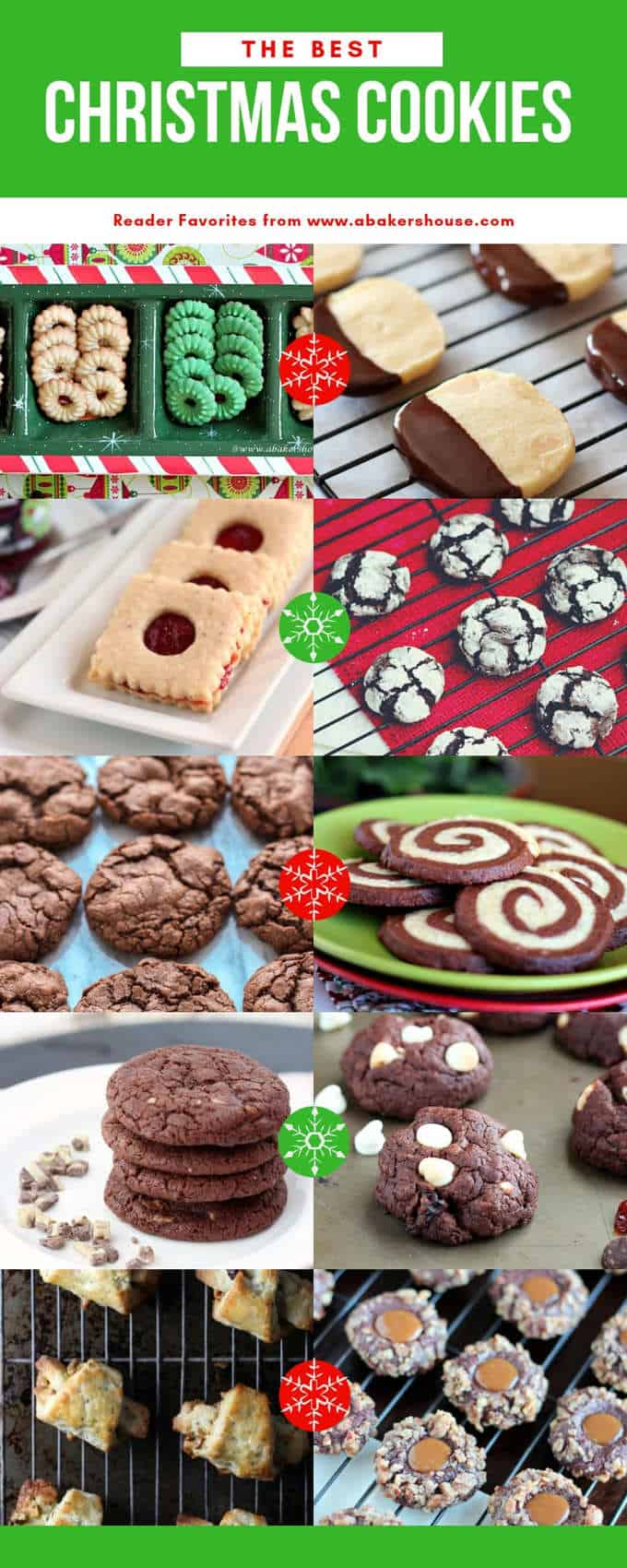Collage of photos for Pinterest image of best christmas cookies
