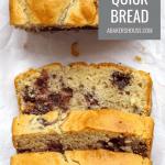 Pinterest Photo for Gluten free cherry quick bread sliced