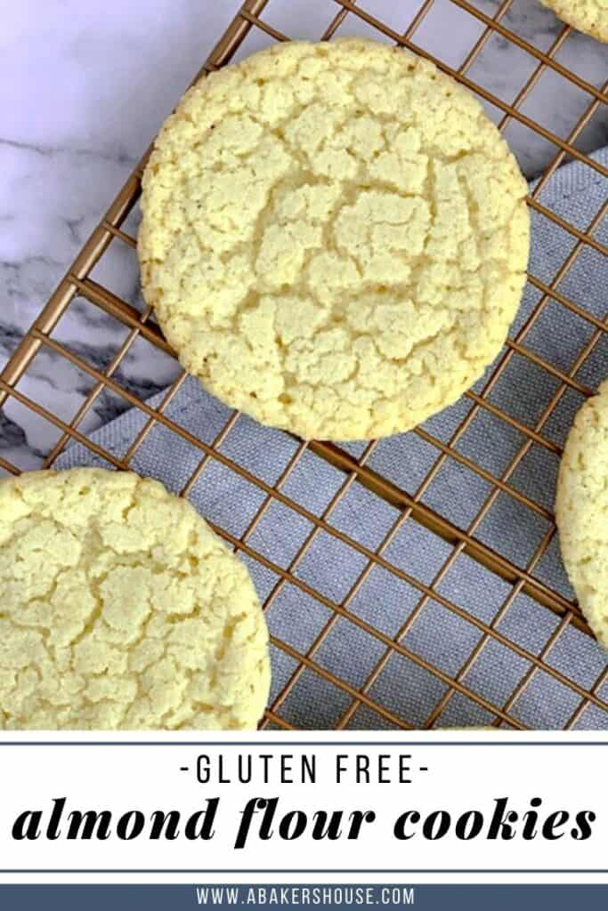 Pinterest image of almond flour cookies with text overlay