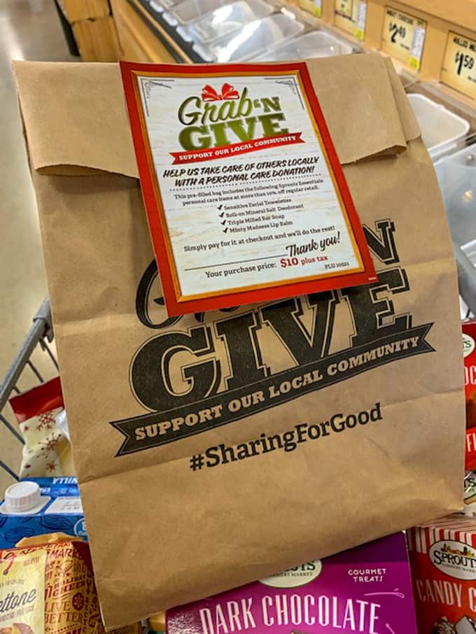grab n go brown bag from Sprouts