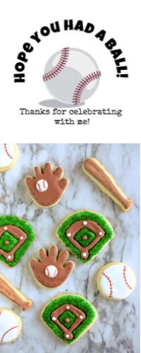 Baseball printable label and cookies for sports party