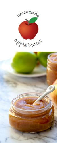 Image for apple butter label and printable