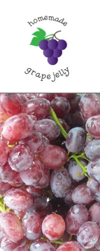 Image for grape jelly label and printable