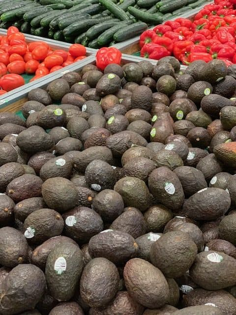 Avocado display at Sprouts Farmers Market